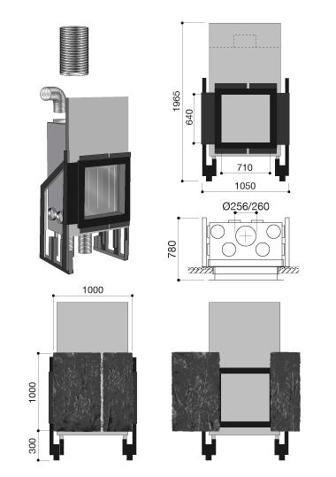 schema de la cheminée design Métafocus 9