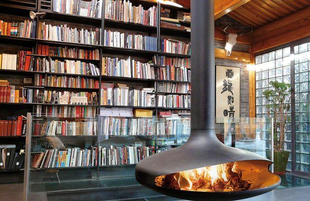 Cheminée design centrale Gyrofocus située à Pékin