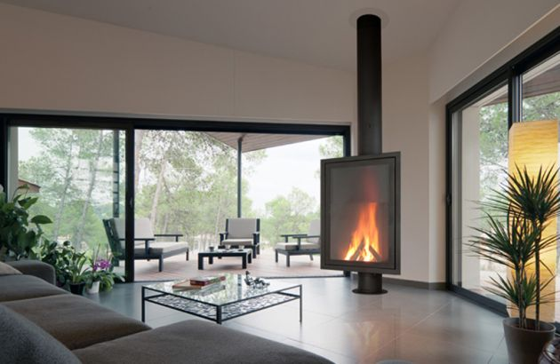 Cheminée Design Eurofocus 951 en Italie