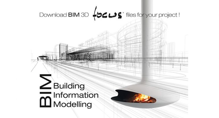 cheminée contemporaine design centrale suspendue salon gaz poëles architecte architecture moderne art décoration BIM Building Information Modeling