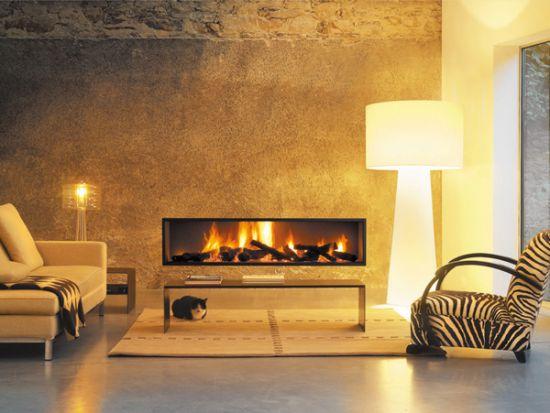 camino moderno da incasso focus. Black Bedroom Furniture Sets. Home Design Ideas